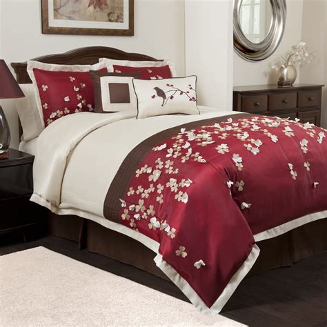 red and brown comforter set april 2013 red decorative pillows