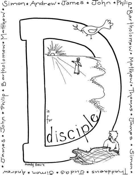 Coloring Page 12 Disciples by Free Coloring Pages Of Calling Disciples