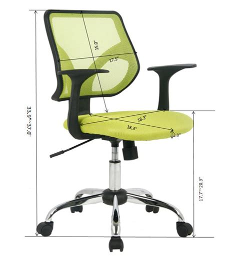 viva office 174 mid back office chair mesh computer chair