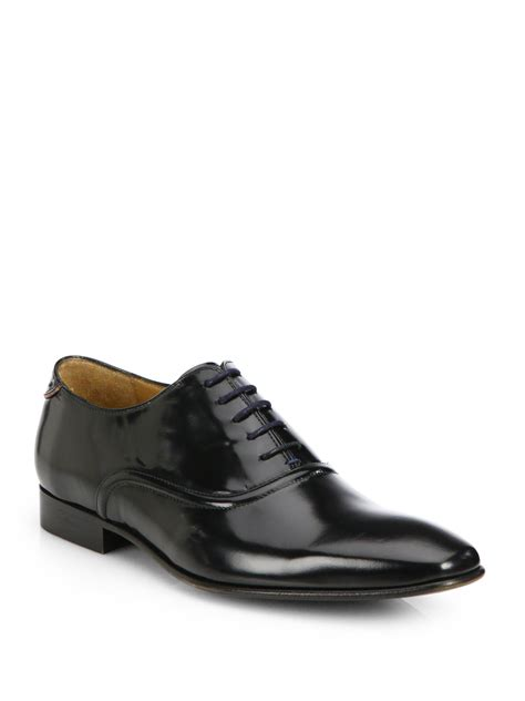 paul smith starling leather lace up dress shoes in black