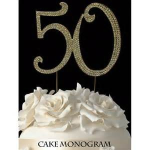 50th cake topper gold 50th anniversary cake toppers oh my favors