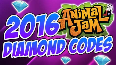 animal jam codes september 2016 animal jam new 2016 diamond codes youtube