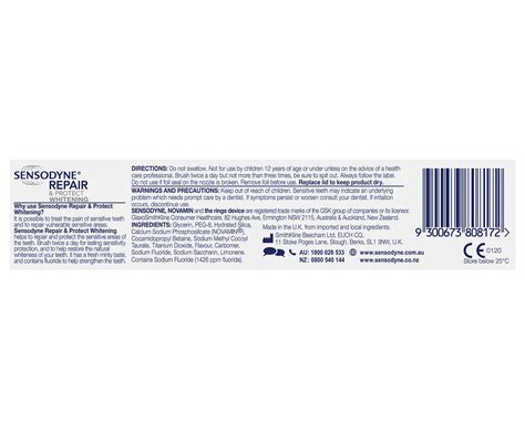 18 X Sensodyne Repair Protect Toothpaste 70g With Sensodyne Expert 2 x sensodyne repair protect whitening toothpaste 100g ebay