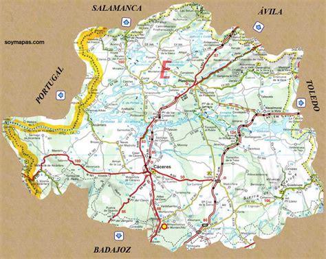 coria caceres mapa mapa de la provincia de c 225 ceres