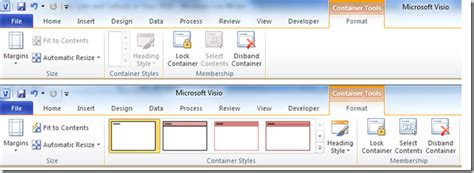 define visio custom containers lists and callouts in visio 2010
