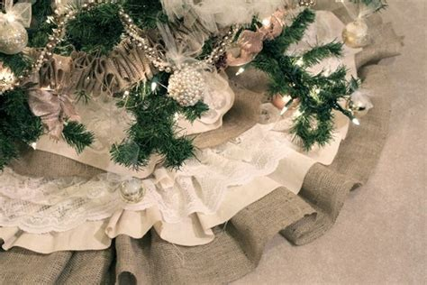 pattern burlap christmas tree skirt simple burlap tutorials u create