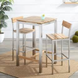 Expandable Bistro Table Siro Teak And Stainless Steel Outdoor Expandable Table With Stacking Chairs Outdoor