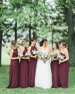 colored bridesmaid dresses best 25 wine bridesmaid dresses ideas on wine