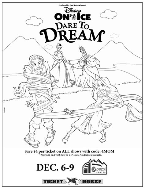 coloring pages disney on ice disney on ice presents dare to dream giveaway coloring