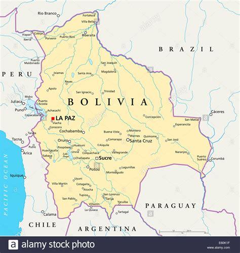 bolivia political map bolivia political map stock photo royalty free image