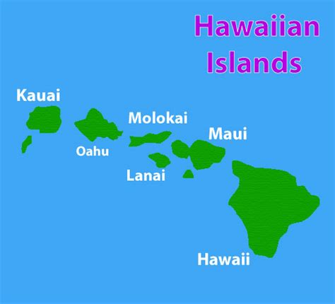 map of hawaii islands map of hawaiian islands princeville alii hawaii travelquaz