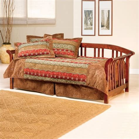 wood day bed hillsdale dorchester solid pine wood brown cherry finish