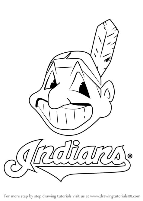 learn how to draw cleveland indians logo mlb step by