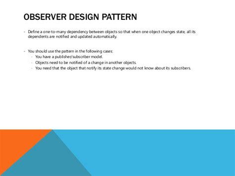 pattern advertising definition observer design pattern define