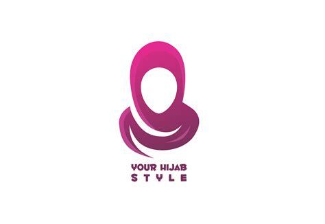 membuat logo hijab logo online shop brand icon artlistious