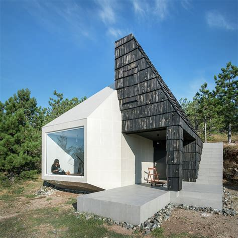 Passive Solar House Floor Plans small house in serbia mixes contemporary and rustic finishes