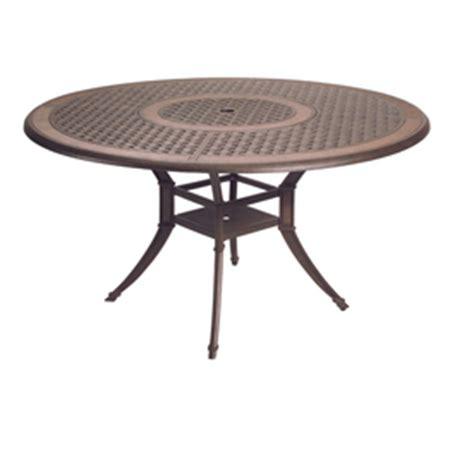 Lowes Patio Table Shop Garden Treasures Herrington 54 Quot Cast Aluminum Patio Dining Table At Lowes