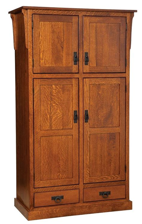 Large Pantry Cupboard by Amish Mission Rustic Kitchen Pantry Storage Cupboard Roll