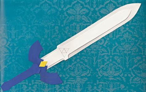 Papercraft Master Sword - master sword cutout by the emerald otter on deviantart
