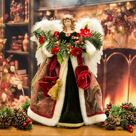 luxury tree topper ornament 41cm santa claus the book of secrets