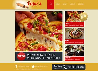 templates for pizza website pizzeria website template wix