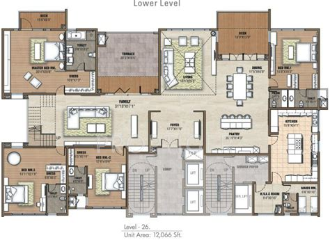 5 Bhk Duplex Floor Plan | 12066 sq ft 5 bhk 9t apartment for sale in prestige group
