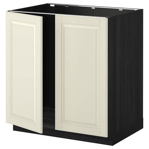 Metod Base Cabinet For Sink 2 Doors Black Bodbyn Off Doors For Ikea Kitchen Cabinets