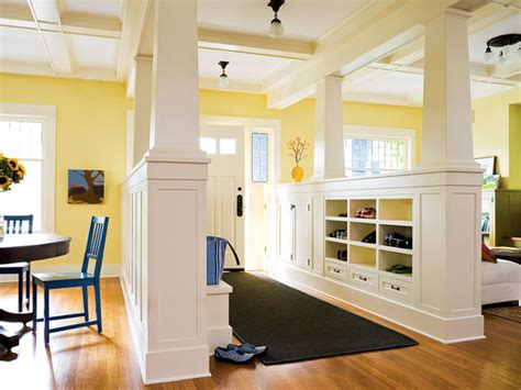 foyer open to dining room entryway columns myhomeideas other metro