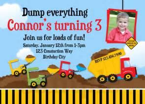 construction birthday invitations dump truck birthday invitation