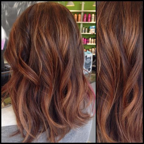warm color hair highlight palette warm fall brunette balayage hair pinterest balayage