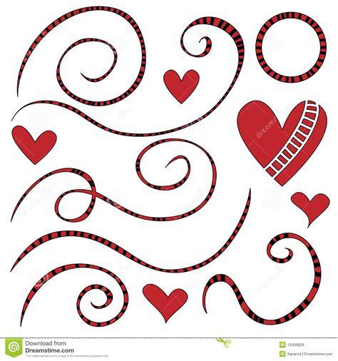 corazones rayados imagenes de archivo imagen 31017594 enrollamientos y corazones rayados