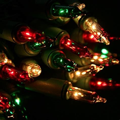 red green white and frost christmas lights