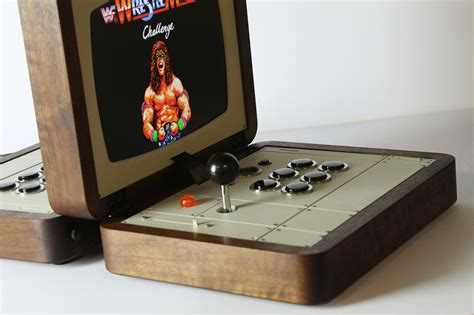 console arcade cabinet hult 233 n brings american walnut and mid century style