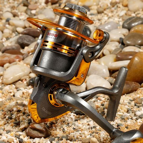 Debao Gulungan Pancing Db6000a Metal Fishing Spin Reel 10 Bearing debao gulungan pancing db3000a metal fishing spinning reel 10 bearing golden