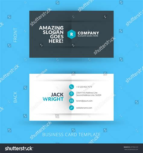 business card template developer vector modern creative clean business card stock vector