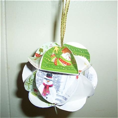 christmas card ornament craft