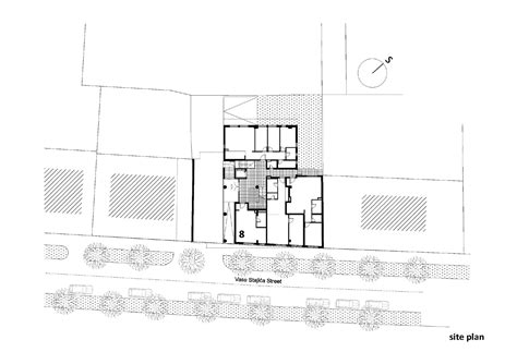 residential site plan gallery of residential building in vase stajića street