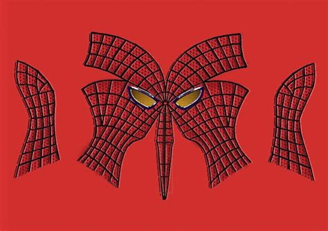 Spiderman Pattern Print | spiderman mask sewing template