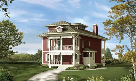 Narrow Lot Houses Craftsman Narrow Lot Homes Narrow Lot Waterfront House Plans House Plans Narrow Lot