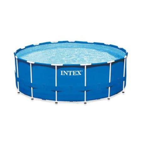 intex 15 ft x 42 in metal frame pool set 28233eg the