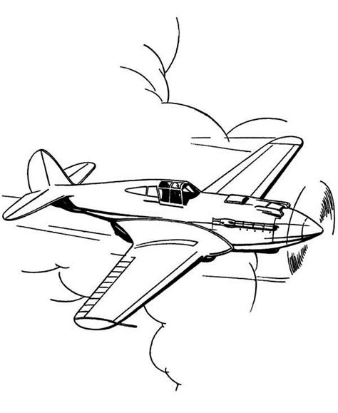 P 51 Mustang Coloring Pages by P51 Mustang Us Fighter Airplane Coloring Page