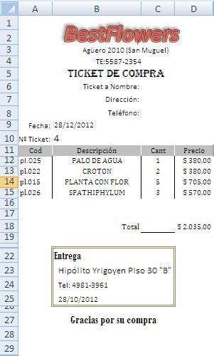 ejemplo de ticket de compra ticket de compra php