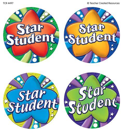 printable star of the week badge star student wear em badges tcr4497 teacher created