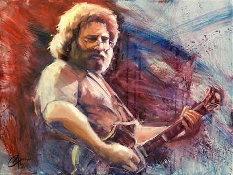 jerry painting jerry garcia sold christopher clark