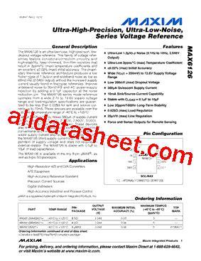 บร ษ ท maxim integrated products thailand co ltd max6126a21 데이터시트 pdf maxim integrated products