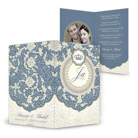 Hochzeitseinladung Orientalisch by Orientalische Hochzeitseinladungen Mit Edlen Verzierungen