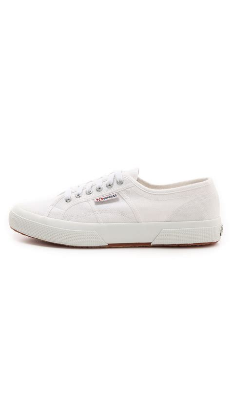superga white sneakers superga 2750 cotu classic sneakers in white for lyst