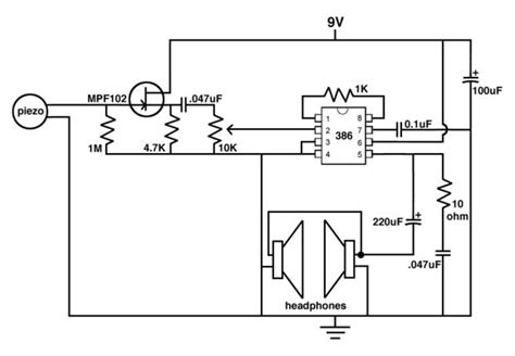 piezoelectric sensor circuit diagram piezoelectric microphone schematic piezoelectric get