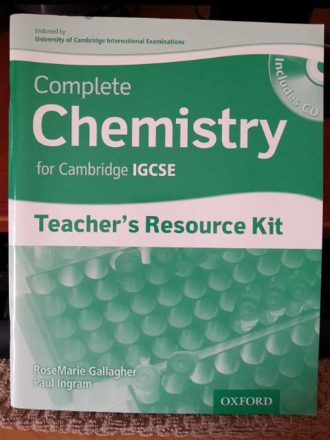 complete chemistry for cambridge 0198399146 science complete chemistry for cambridge igcse teacher s resource kit was listed for r200 00