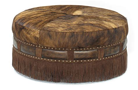Cow Print Ottoman Cow Hide The Center Of Attention